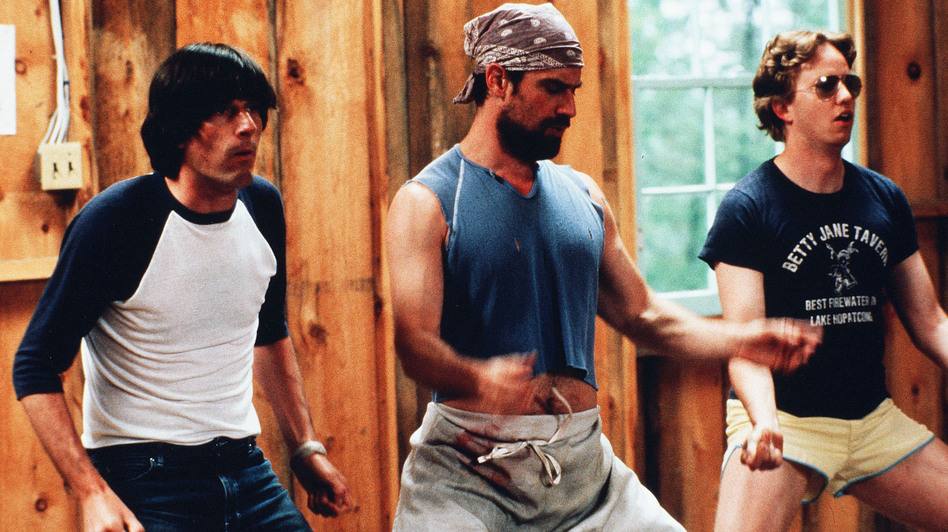 Michael Showalter, Christopher Meloni and A.D. Miles star in the 2001 comedy, Wet Hot American Summer. (The Kobal Collection/USA Films)