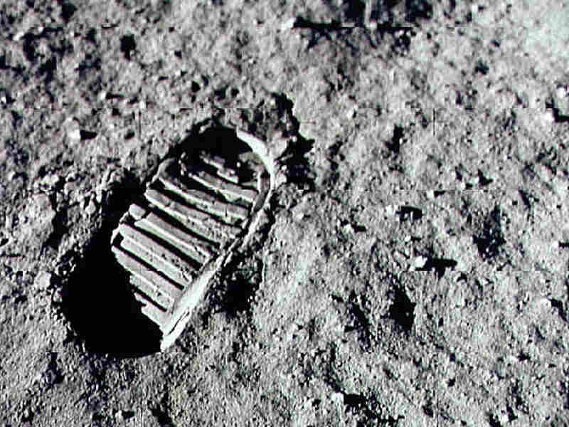 Armstrong stepped into history July 20, 1969, leaving the first human footprint on the surface of the moon.