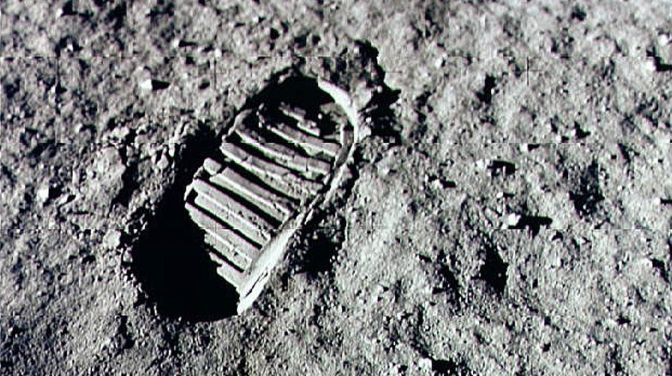 Armstrong stepped into history July 20, 1969, leaving the first human footprint on the surface of the moon. (Getty Images)