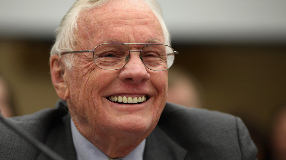 Neil Armstrong testifies before a House panel about human space flight in 2011. Armstrong died on Saturday at 82. (Getty Images)