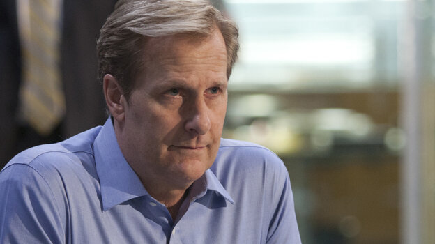 Jeff Daniels as Will McAvoy on HBO's The Newsroom knows people who know people, fortunately for him.