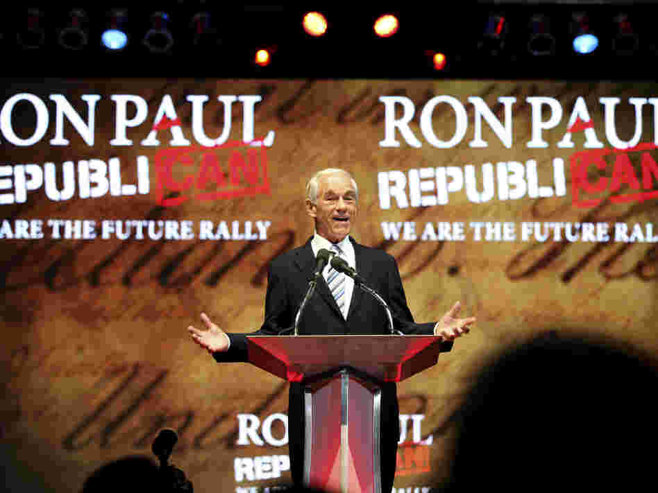 "Rep. Ron Paul, R-Texas, brought thousands to the Sun Dome in Tampa on Sunday for a ""we are the future"" rally."