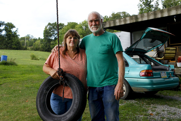 Gale and Ted Franklin were forced out of their home after flooding last September. They have been living out of their camp in Leroy Township, Pa., and methane has seeped into their water supply.