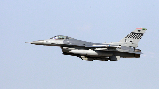 A U.S. Air Force F-16 multi role fighter Falcon during an exercise at the U.S. airbase in Osan, South Korea. (AP)