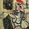 Industrial designer Raymond Loewy purchased Pablo Picasso's Seated Woman with Red Hat (or Femme assise au chapeau rouge) in 1957 and gifted it to the Evansville Museum in the '60s.