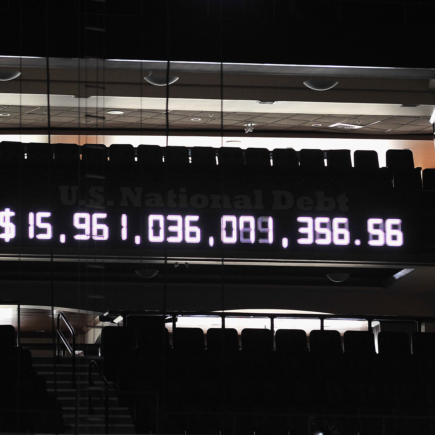 The debt clock is ticking inside the Tampa Bay Times Forum, where the 2012 Republican National Convention is being held.