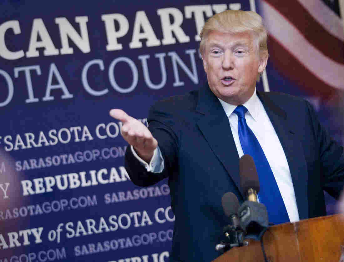 Donald Trump on Sunday in Sarasota, Fla., where local Republicans named him their Statesman of the Year.