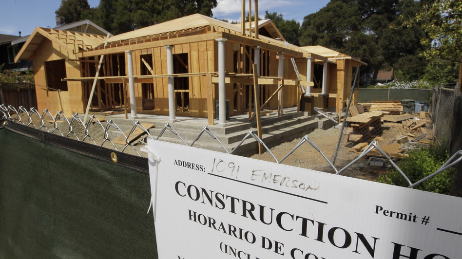 Sales of new homes, like this one in Palo Alto, Calif., rose 3.6 percent in July. (AP)