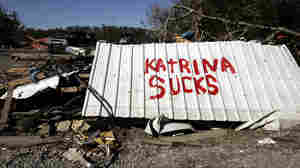 A sign was displayed on a highway near New Orleans in the wake of Hurricane Katrina in 2005.