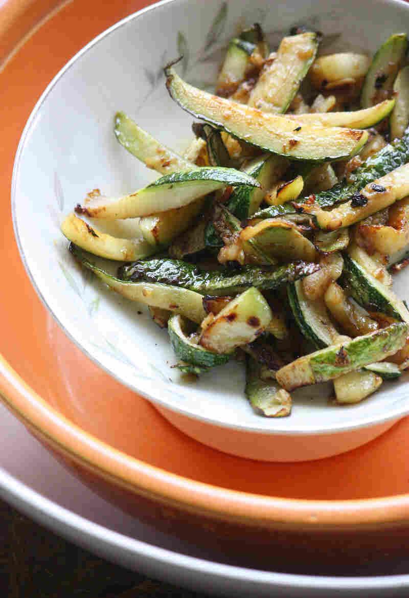 Garlicky Flash Zucchini