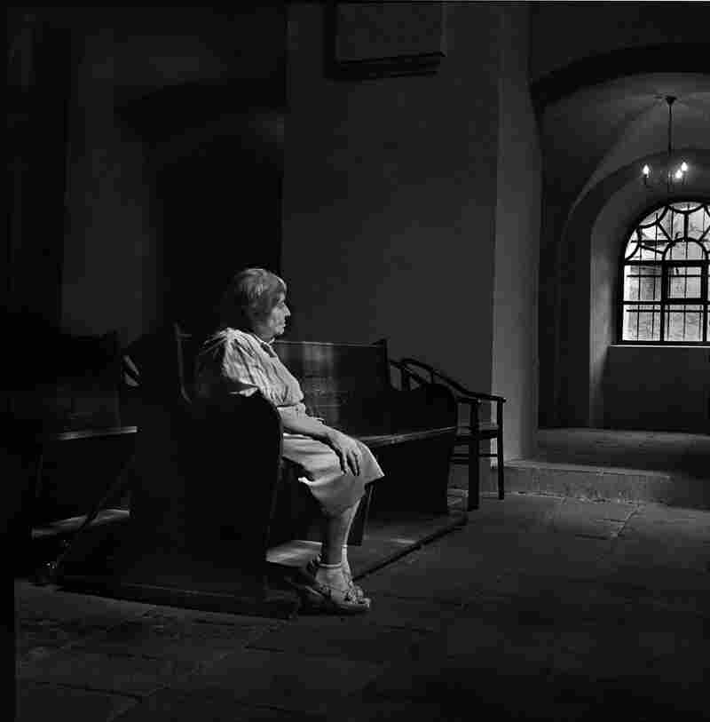 """Panl Elserova at the Kolin Synagogue, Czech Republic, July 2012. According to Dennis Darling, Elserova """"is last remaining Jewish women living in the town."""""""