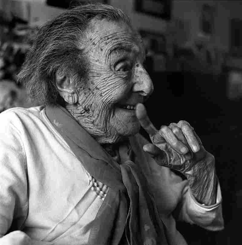 """Alice Herz-Sommer, 108, """"has the distinction of being not only the oldest Terezin survivor but also holds the title of the oldest Holocaust survivor in the world. Deported to Terezin with her husband and young son, the 21-year-old accomplished pianist gave music lessons to the children of the camp and played more than 100 concerts for inmates during her internment at Terezin."""""""