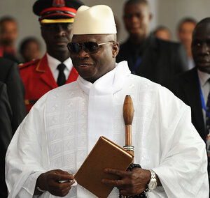 Gambian President Yahya Jammeh says all 47 death-row inmates will be executed by mid-September. Nine were killed this week by firing squa