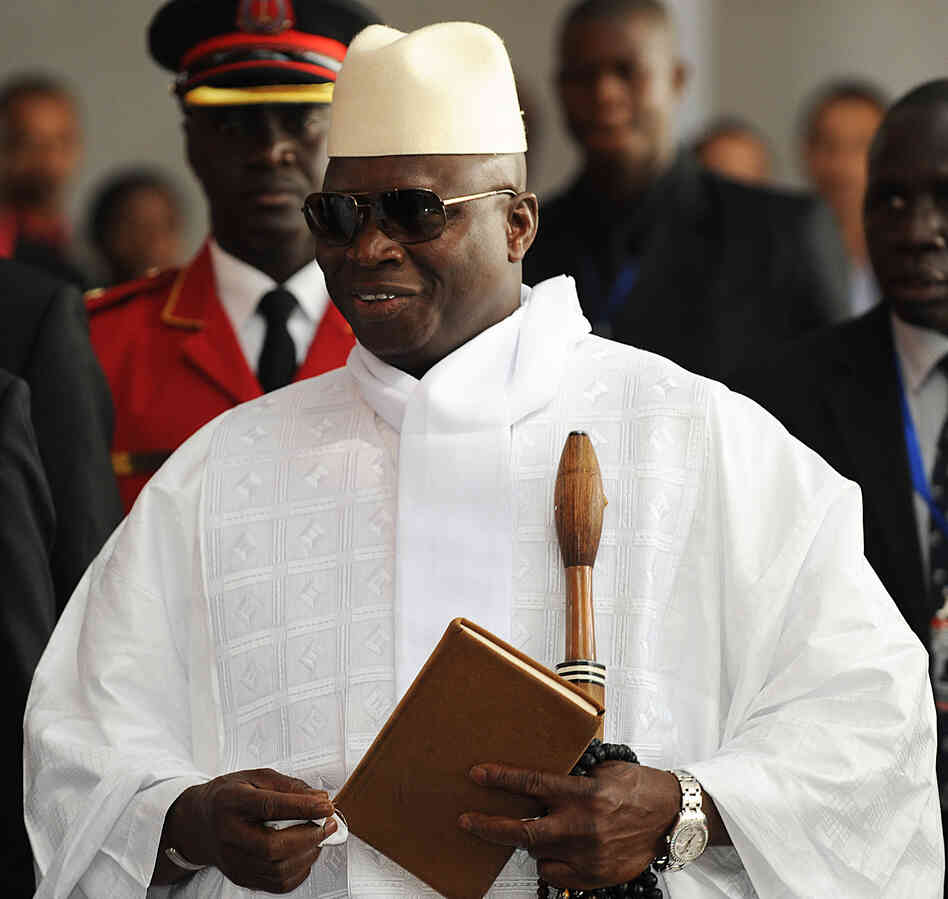 Gambian President Yahya Jammeh says all 47 death-row inmates will be executed by mid-September. Nine were killed this week by firing squad. Gambia's human rights record has frequen