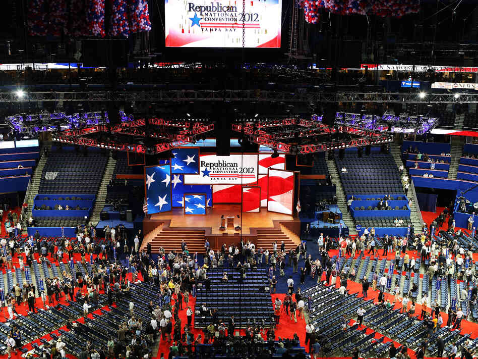 The stage is set at the Republican National Convention in Tampa.