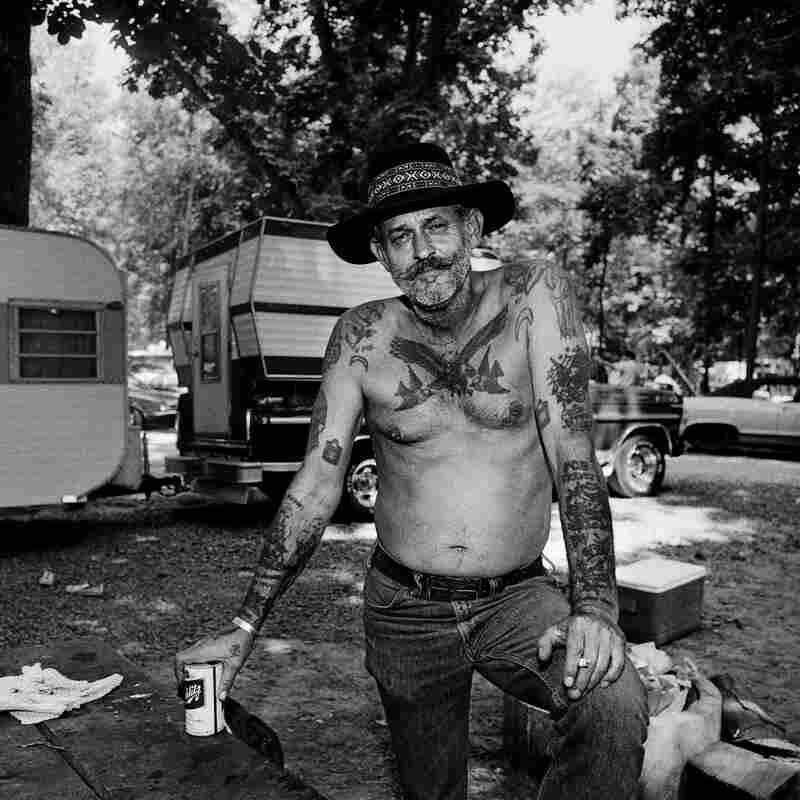 Bluegrass Music Fan Frank Brown, Gettysburg Bluegrass Festival, Gettysburg, Pa., 1974