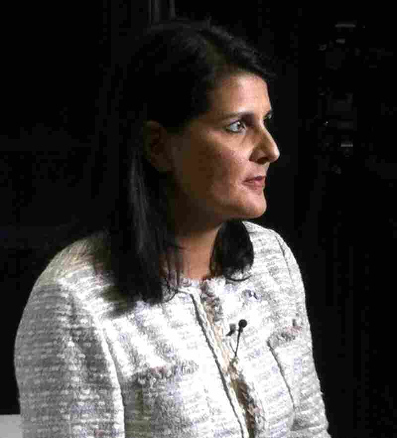 South Carolina Gov. Nikki Haley (R) after her sit-down with USA Today and Gannett editors in Tampa this morning.