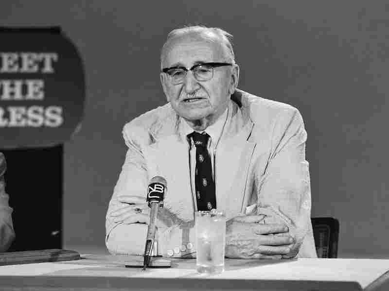 In 1975, Friedrich Von Hayek met the press.
