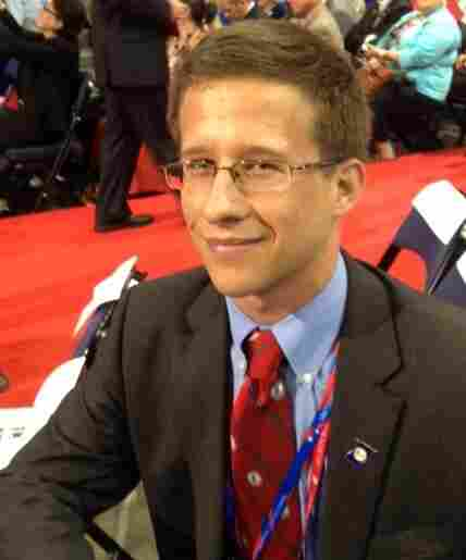 Alexander Reber, 21, a Virginia delegate and one of the youngest at the convention.