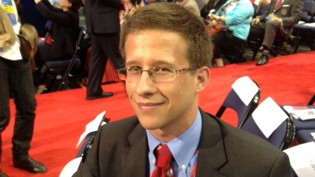 Alexander Reber, 21, a Virginia delegate and one of the youngest at the convention. (NPR)
