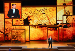 Ted Cruz, U.S. Senate candidate from Texas speaks during the convention.