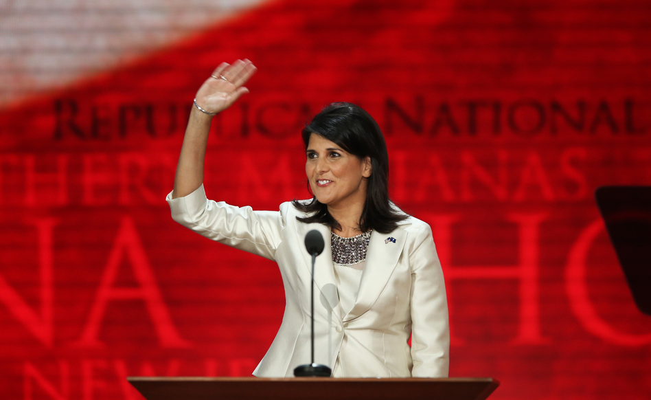 South Carolina Gov. Nikki Haley received one of the biggest cheers of the night after saying that if you need to show an identification card to get on an airplane, you should also need to show an ID to vote. (Getty Images)