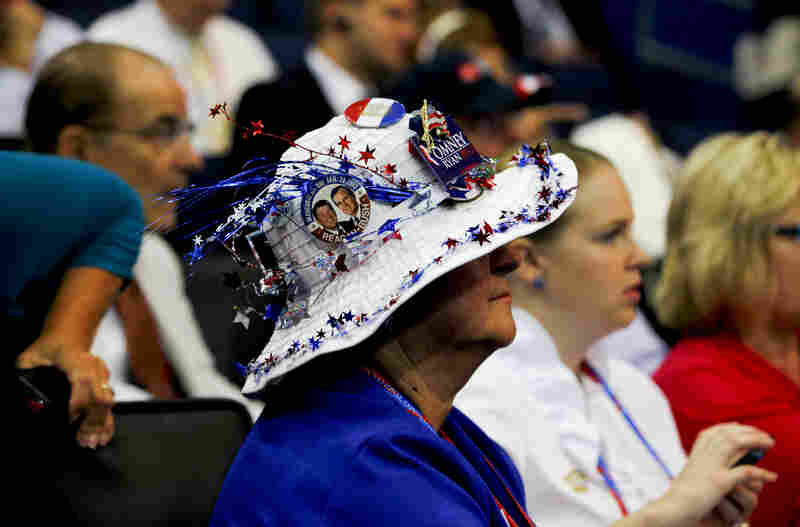 Judith Couri, a delegate from Waukesha, Wis., before the convention's first big night.