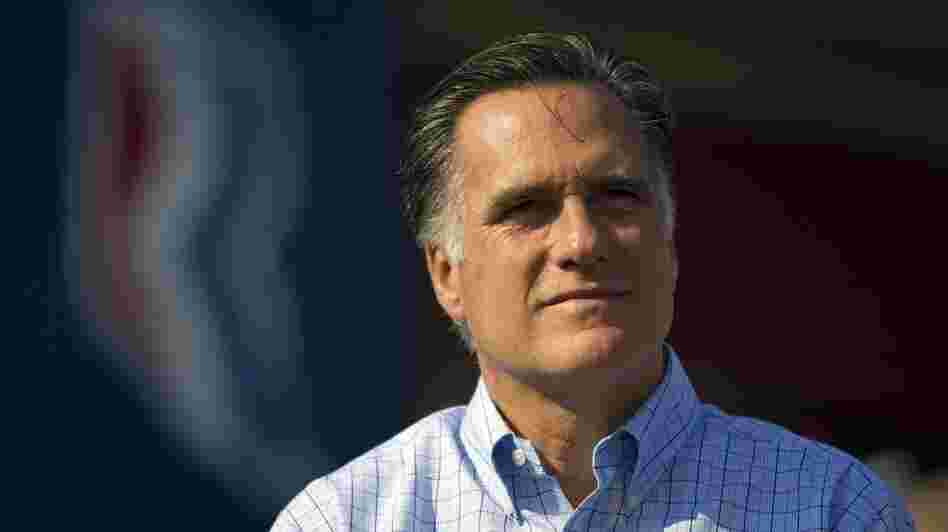 Republican presidential candidate Mitt Romney at a campaign rally in Powell, Ohio, on Saturday.