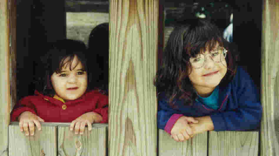 Sisters Michaela and Jessie circa 1996, around the same time they began to leave phone messages at work for their mother, Morning Edition producer Cindy Carpien.