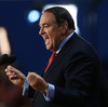 Former Arkansas Gov. Mike Huckabee speaks at the Republican National Convention Wednesday.
