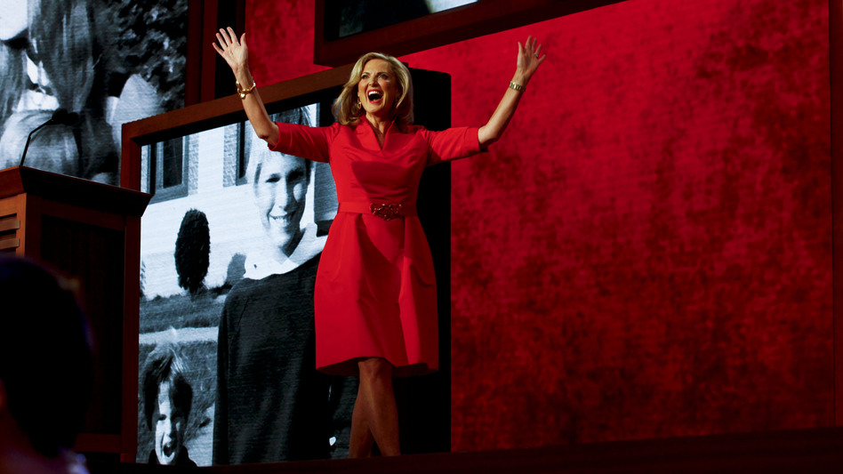 Ann Romney spoke to a cheering crowd at the first night of the Republican National Convention. (NPR)