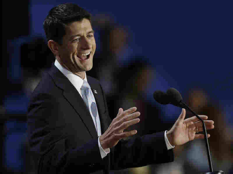 Rep. Paul Ryan, R-Wis., speaks Wednesday to delegates at the Republican National Convention in Tampa, Fla.