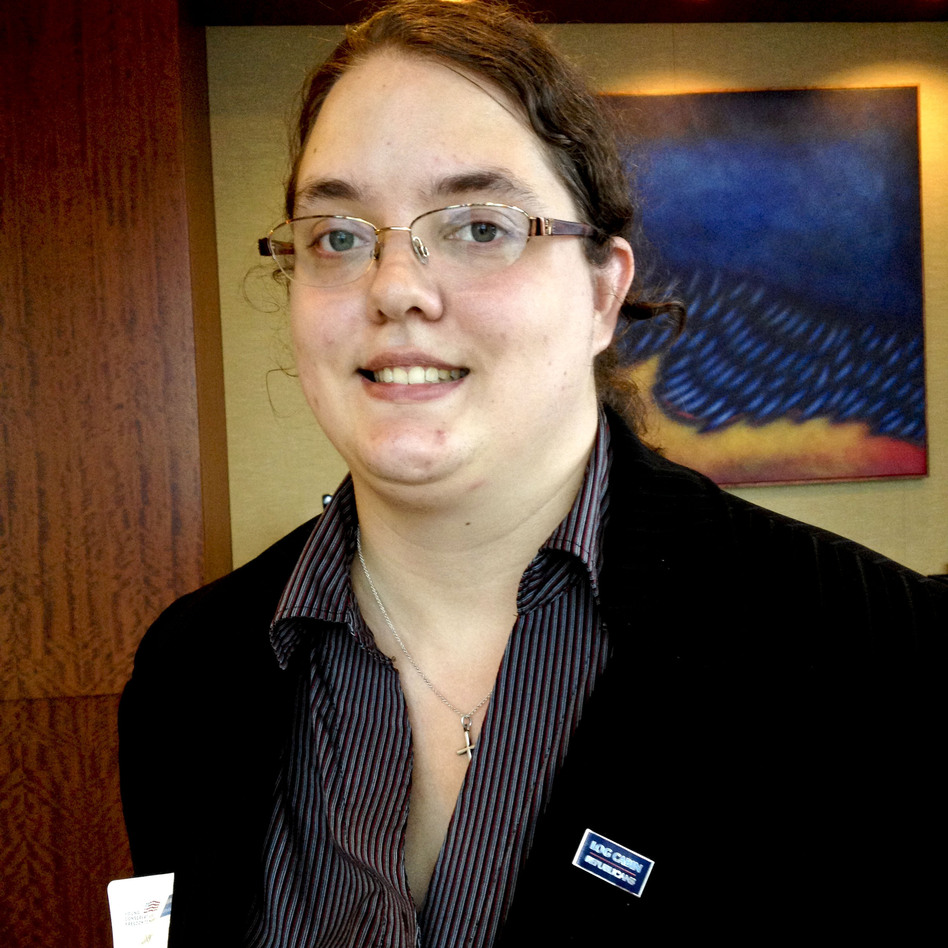 Casey Pick is the programs director of the Log Cabin Republicans. (NPR)