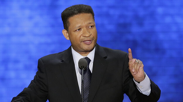 """Former Democratic Rep. Artur Davis spoke Tuesday at the Republican National Convention: """"Some of you may know,"""" he said, """"the last time I spoke at a convention, it turned out I was in the wrong place."""""""