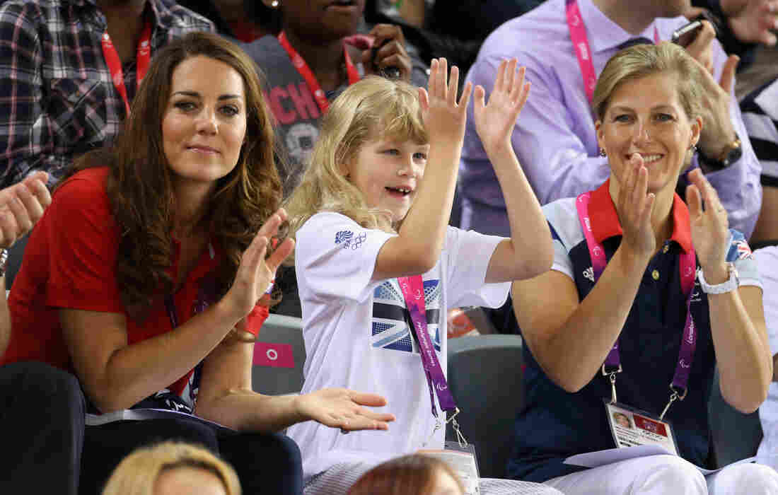 Catherine, Duchess of Cambridge, Lady Louise Windsor and Sophie, Countess of Wessex.