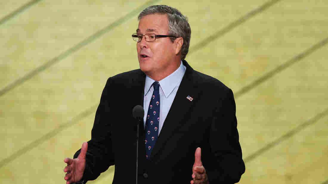 Former Florida Gov. Jeb Bush speaks Thursday at the Republican National Convention.