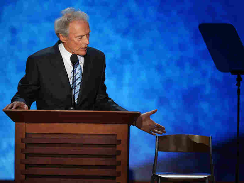 Clint Eastwood speaks at the Republican National Convention on Thursday.