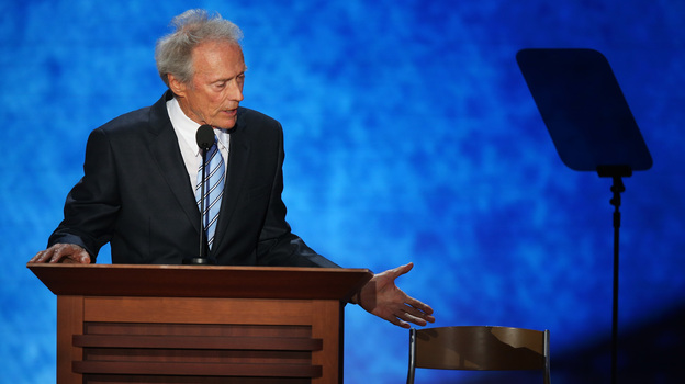 Clint Eastwood speaks at the Republican National Convention on Thursday. (Getty Images)