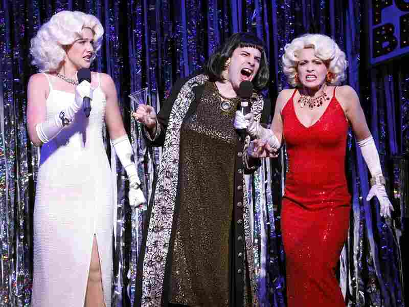 """Natalie Charle Ellis and Jenny Lee Stern get their Marilyn on in the Smash parody """"Let Me Be Subpar,"""" with help from Marcus Stevens."""