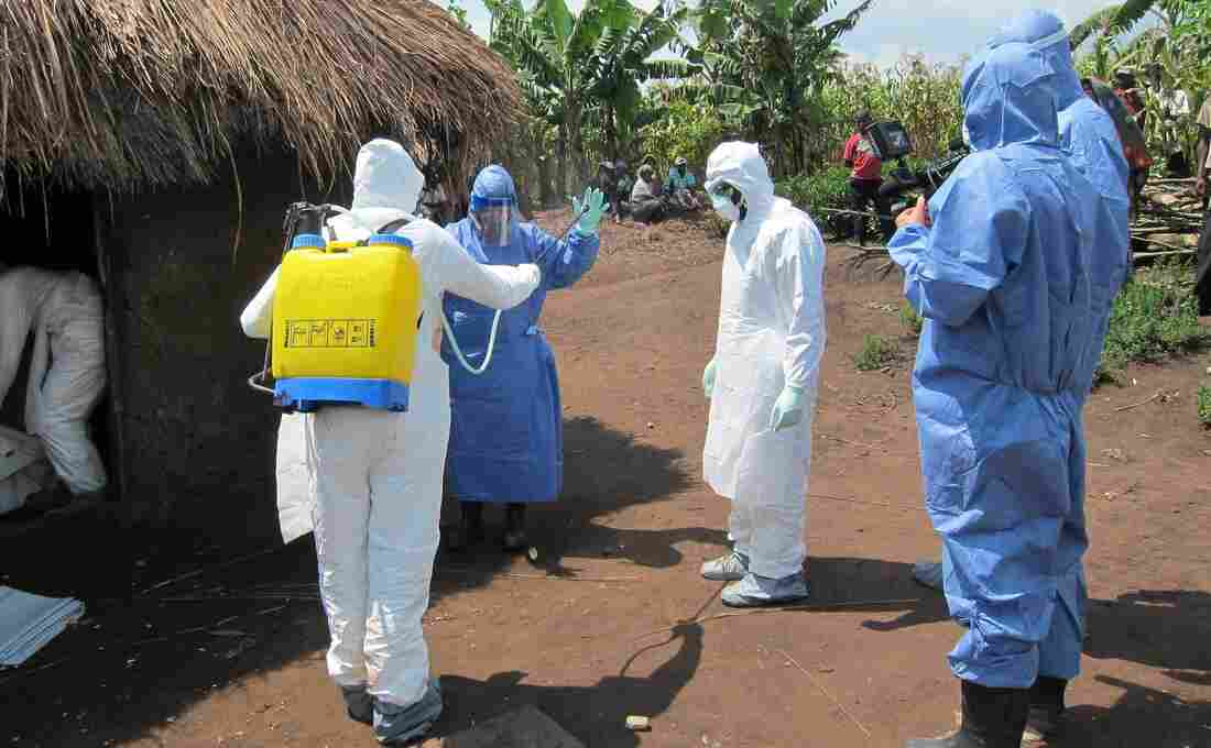 Disease detective Dr. Barbara Knust suits up to investigate an Ebola outbreak in Uganda last month. Knust chatted on Twitter last Wednesday about her career tracking down outbreaks for the Centers of Disease and Prevention.