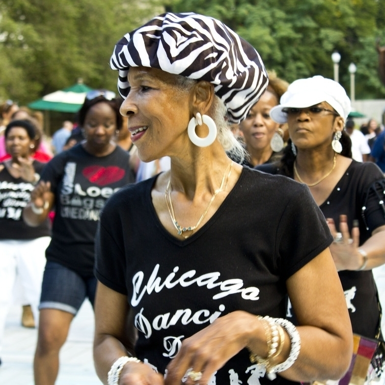 At the Chicago Summer Dance event in the city's Grant Park, attendees can listen to free music, watch dance performances like the one above, and learn many different kinds of dance, says resident Janey Lee.