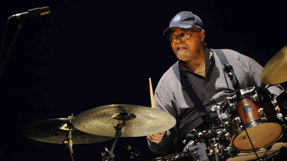 Drummer Jimmy Cobb plays at the 2012 Heineken Jazzaldia, the international jazz festival in San Sebastian, Spain.