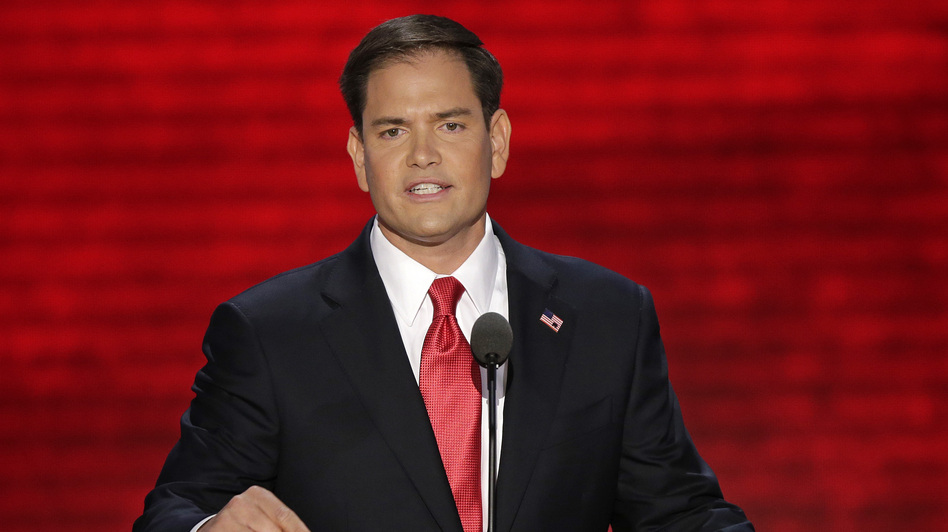 Florida Sen. Marco Rubio speaks at the Republican National Convention in Tampa, Fla. on Thursday. (AP)