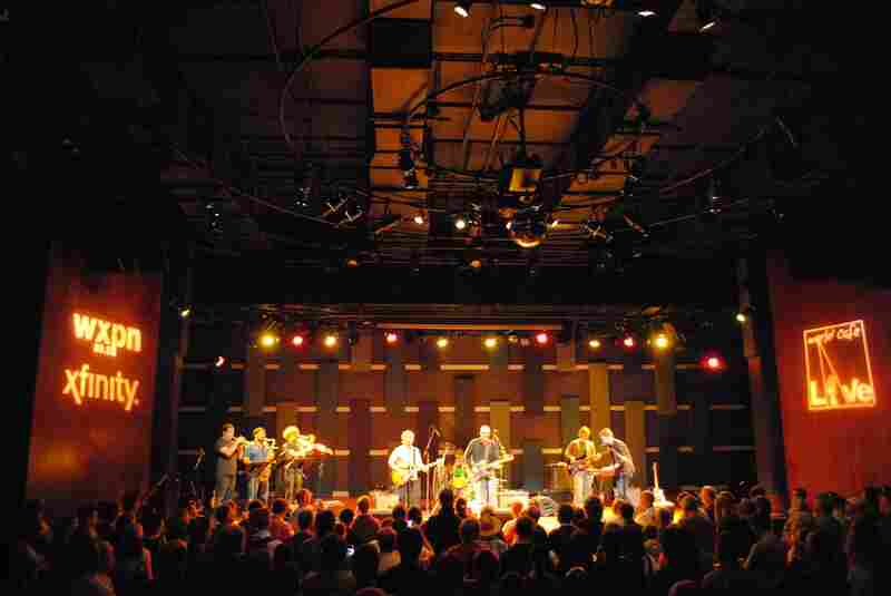 Both the stage and the room were packed for the dB's performance at World Cafe Live in Philadelphia, Penn.