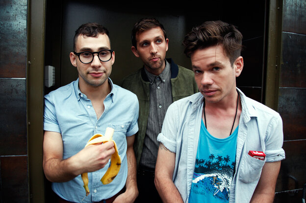 All Good fun.: Band members (from left) Jack Antonoff, Andrew Dost and Nate Ruess (before he quit smoking) in Brooklyn, N.Y.
