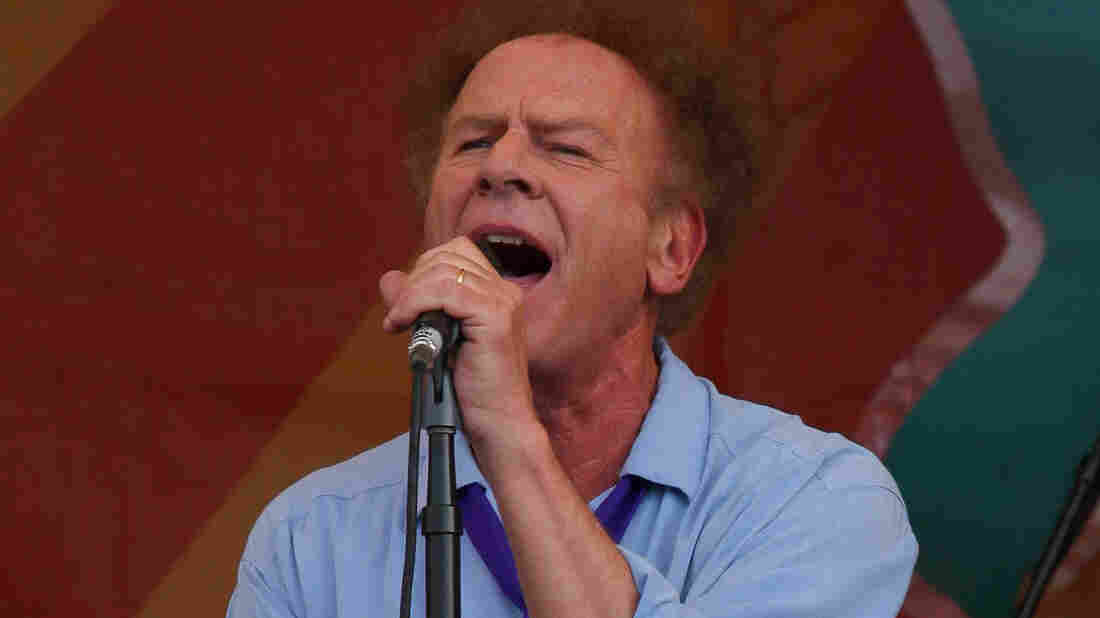 Art Garfunkel performs at the New Orleans Jazz and Heritage Festival in 2010.