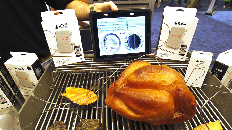 The iGrill on display at Macworld 2011in San Francisco. (Bloomberg via Getty Images)