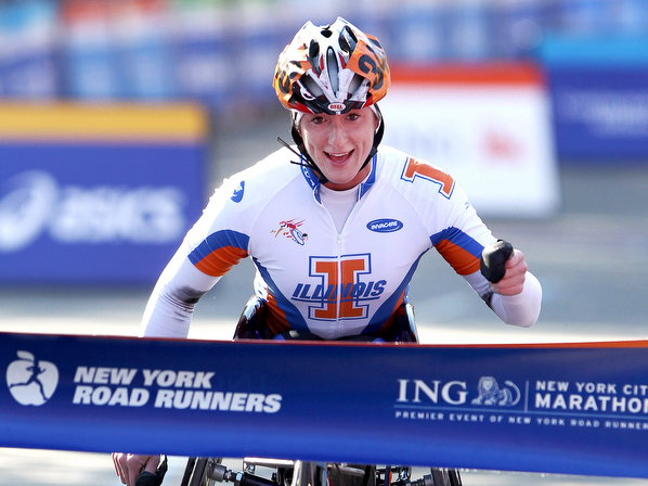 Tatyana McFadden was the wheelchair champion for the 2010 ING NYC Marathon.