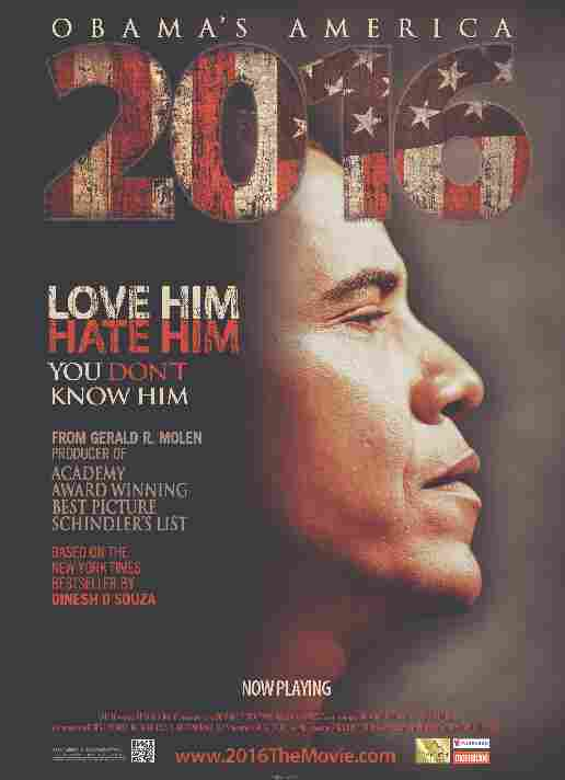 Movie poster for 2016: Obama's America.