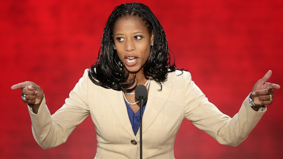 Mia Love, the Mayor of Saratoga Springs, Utah, addresses the Republican National Convention in Tampa, Fla., on Tuesday. (AP)